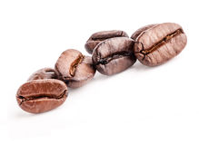 Coffee beans, closeup Stock Images