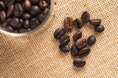 Coffee beans closeup background. 1 Stock Photos