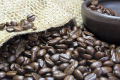 Coffee Beans Closeup Stock Images