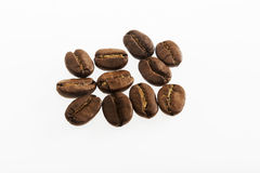 Coffee beans in closeup Stock Photography