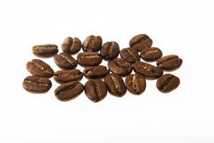 Coffee beans in closeup Royalty Free Stock Photos