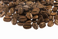 Coffee beans in closeup Royalty Free Stock Images
