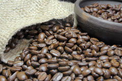 Coffee Beans and Pot Royalty Free Stock Image