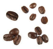 Coffee beans. Closeup of coffee beans on plain background Stock Photography