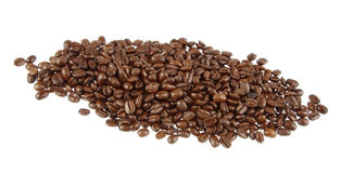 Coffee beans. Closeup of coffee beans on plain background Royalty Free Stock Photo