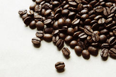 Coffee beans. Closeup of coffee beans on plain background Stock Photo