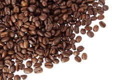 Coffee beans. Closeup of coffee beans on plain background Royalty Free Stock Photography