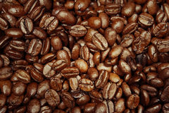 Coffee beans. Closeup of roasted coffee beans Stock Photo