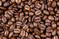 Coffee beans. Closeup of roasted coffee beans Royalty Free Stock Photography