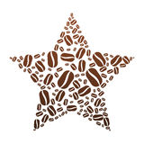 Coffee Bean Star Royalty Free Stock Photo