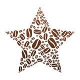 Coffee Bean Star Royalty Free Stock Photo