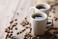 Coffee beans and coffee Stock Images