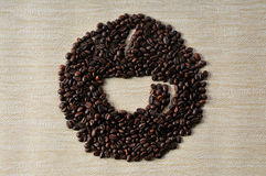 Coffee  beans. Coffee Background. A cup of coffee  beans Background Stock Images