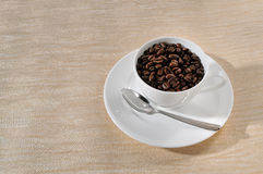 Coffee  beans. Coffee Background. A cup of coffee and beans Background Royalty Free Stock Photo