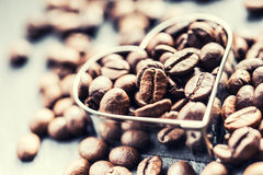 Free Coffee Beans. Coffee Beans In The Form Of Heart Stock Photo - 64026290