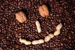 Coffee beans coffee beans. Roasted Coffee beans coffee beans Royalty Free Stock Photography