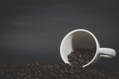 Coffee beans. Coffee cup. Coffee. Coffee beans. Coffee cup full of coffee beans Stock Images