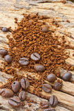 Coffee beans and coffee grind beans Stock Image
