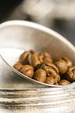 Coffee beans on a coffee maker Stock Photography