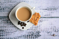 Coffee beans coffee and peanute brittle Stock Images