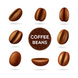 Coffee beans concept set Royalty Free Stock Photos