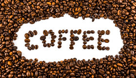 Coffee beans. Concept , white background Stock Photo