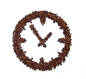 Coffee beans conventionalized to clock Stock Photography