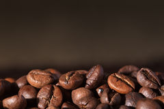 Coffee beans with copy space Stock Image
