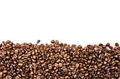 Coffee beans  with copy space. Coffee beans on the white background with copy space Royalty Free Stock Photography