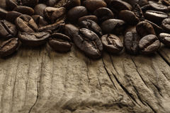 Coffee Beans and copy space Royalty Free Stock Photography