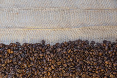Coffee beans and copy space. Close up of coffee beans and copy space stock images
