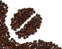 Coffee beans corner. On white background stock photo