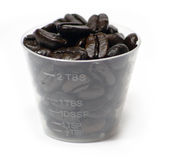 Coffee Beans in a cup Stock Image
