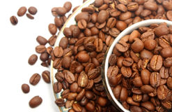Coffee beans in the cup Stock Photography