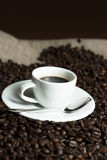 Coffee and beans Royalty Free Stock Photos