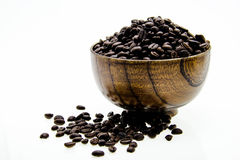Coffee beans in a cup. Stock Photo