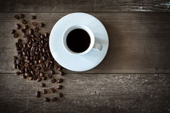 Coffee Beans Cup Background stock photos