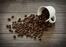Coffee Beans Cup Background Royalty Free Stock Photos