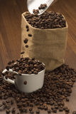 Coffee Beans in Cup Royalty Free Stock Image