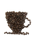 Coffee beans cup pattern Royalty Free Stock Photography
