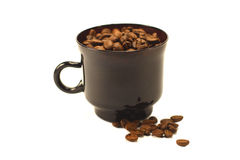 Coffee beans in a cup on a white background Stock Photo