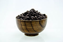 Coffee beans in a cup  on white background Royalty Free Stock Photography
