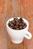 Coffee beans cup Stock Photo