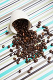 Coffee Beans and Cups Royalty Free Stock Photo