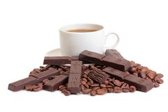 Coffee and chocolate five royalty free stock images
