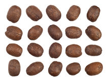 Coffee beans cutout Stock Images
