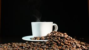 Coffee Beans On Dark Background.  Royalty Free Stock Images