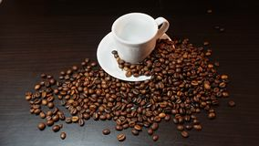 Coffee Beans On Dark Background.  Royalty Free Stock Photos