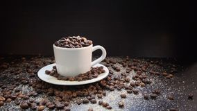 Coffee Beans On Dark Background.  Royalty Free Stock Photo