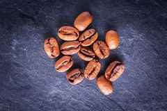 Coffee beans on dark background Stock Photography